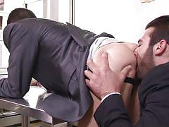 boss, rimjob, blowjob, office sex, gays, gay sex, the gay office, men, jacob ladder, jarec wentworth