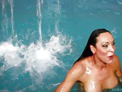 small tits, big ass, solo, jacuzzi, she male, pov, brunette tranny, in water, ts playground, evil angel, anna hickhiman