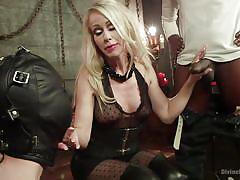 Sucking black cock for mistress