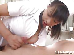 Horny japanese nurse hana takes hot dick in her mouth