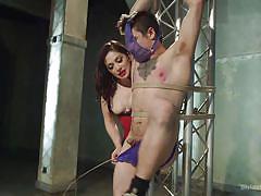 European mistress humiliates panty slut