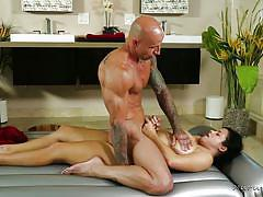 Hard fucking after massage