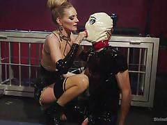 Clown gimp gets fucked