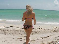 blonde, babe, beach, pov blowjob, pussy eating, cock sucking, mofos b-sides, mofos network, britney brooks