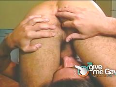 Hot gay alex and marc enoying gay sex in men room.