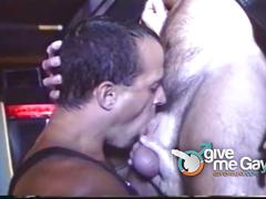 Leather daddies in hot orgy