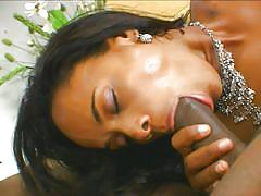 Black guy with a big cock fucks two brazilians