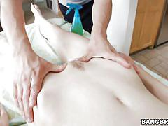 massage, babe, skinny, round ass, blowjob, brunette, cowgirl, milky white, porn star spa, bangbros network, jay taylor