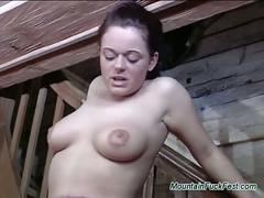 Mountain lesbian action sex with two horny babes licking