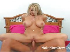 Candy manson -  big tits blonde fucked on her boobs