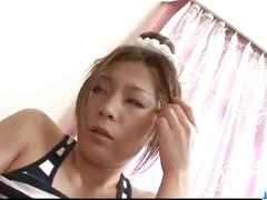 Toa loves toys cracking her juicy japanese pussy