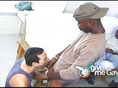 African gay hunks fucks one hot white ass stud.
