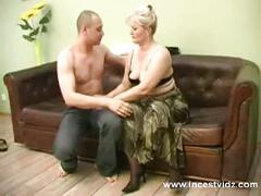 pussy, blonde, blowjob, mature, pussyfucking, mom, sleeping, mommy, family, mother, son, taboo