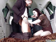 milf, handjob, high heels, busty, big dick, from behind, car sex, black hair, cock sucking, milfs like it big, brazzers network, xander corvus, rayveness