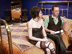 babe, glasses, masturbation, stockings, vibrator, education, tattooed, sexy lingerie, workshop, kink university, kink, terralthra, ransom