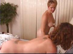 Blonde milf and brunette teen go fully lesbo