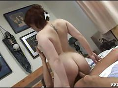 Tattooed and sexy brunette rides a hard cock