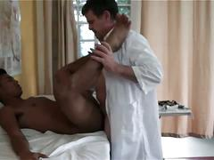 Doctor and gay assistant fucks patient