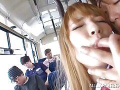 18 year old schoolgirl ass fingered in the bus
