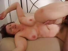 Nice mom with flabby body, saggy tits, hairy cunt & guy