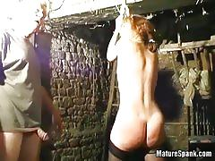 Brunette mature misbehaves and gets spanked