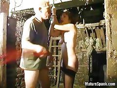 Brunette mature misbehaves and gets spanked