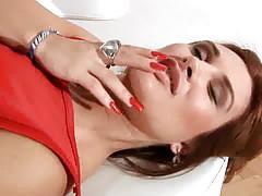 Milf lesbian scene with strap on dildo !