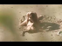 Voyeur on public beach. hot young couple sex again
