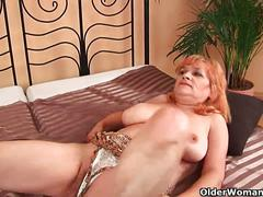 Granny with big tits sucks cock and gets fucked