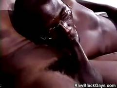 Monster cock inside wet black mouth