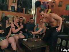 Bbw sluts are ready to party hard at the bar