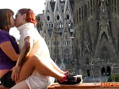 Naughty lesbian belles go wild in barcelona
