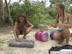 Sophia sutra & nicole grey play at the beach