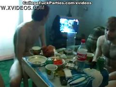 Hottest college girls and dudes arrange the real dirty orgy