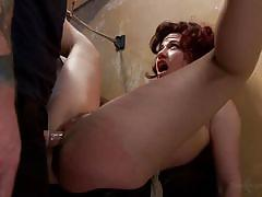 small tits, bdsm, spanking, dungeon, pussy torture, pov, tied on wall, dungeon sex, kink, ingrid mouth, christian wilde