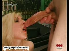 Blondie babe cyndi is the ultimate bukkake whore