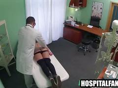 Foxy blonde patient getting massaged by her doctorakes a hard fucking 720 2