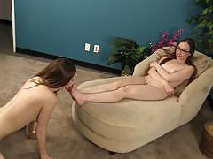 Crystal clark worships megan starr's feet