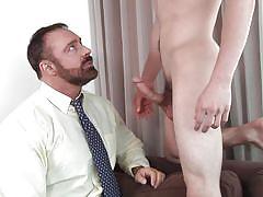 Teacher fingers his student's ass