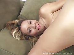 Keeani lei gets some black dick in her twat
