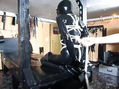 fetish, tube8.com, leather, bdsm, bondage, tied up, oil, massage, dildo, whip, rope, chains