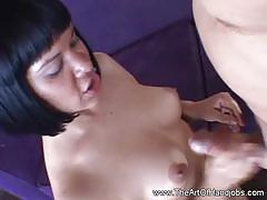 The art of handjobs: hot mature gives hot handjob