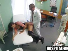 Brunette gets fucked on the exam table by with fertility problems examined 720 4