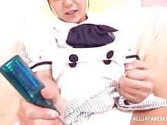 Costumed japanese chicks masturbate
