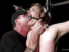 milf, bdsm, busty, pov, executor, clothespins, mouth gag, device bondage, device bondage, kink, the pope, iona grace