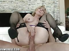 nina hartley, bill bailey, hardcore, blonde, milf, reverse cowgirl, stockings, doggy style, cowgirl, pantyhose, missionary