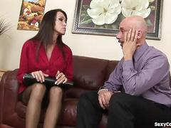 Fit milf agent fucks her client