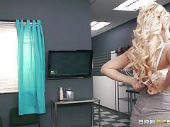milf, blonde, big tits, hospital, pussy licking, undressing, doc, doctor adventures, brazzers network, preston parker, kagney linn karter