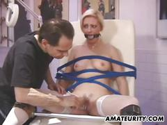 Amateur housewife homemade sado maso action