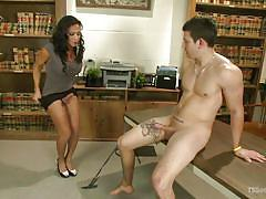 Sex and education with a sensual tranny